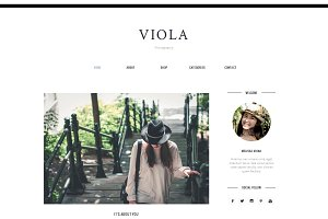 Blogger Template Responsive - VIOLA