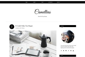 Blogger Template Responsive CAMELLIA