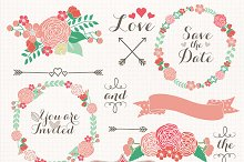 Wedding wreath clipart flower