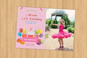 Birthday Invitation Card-V262