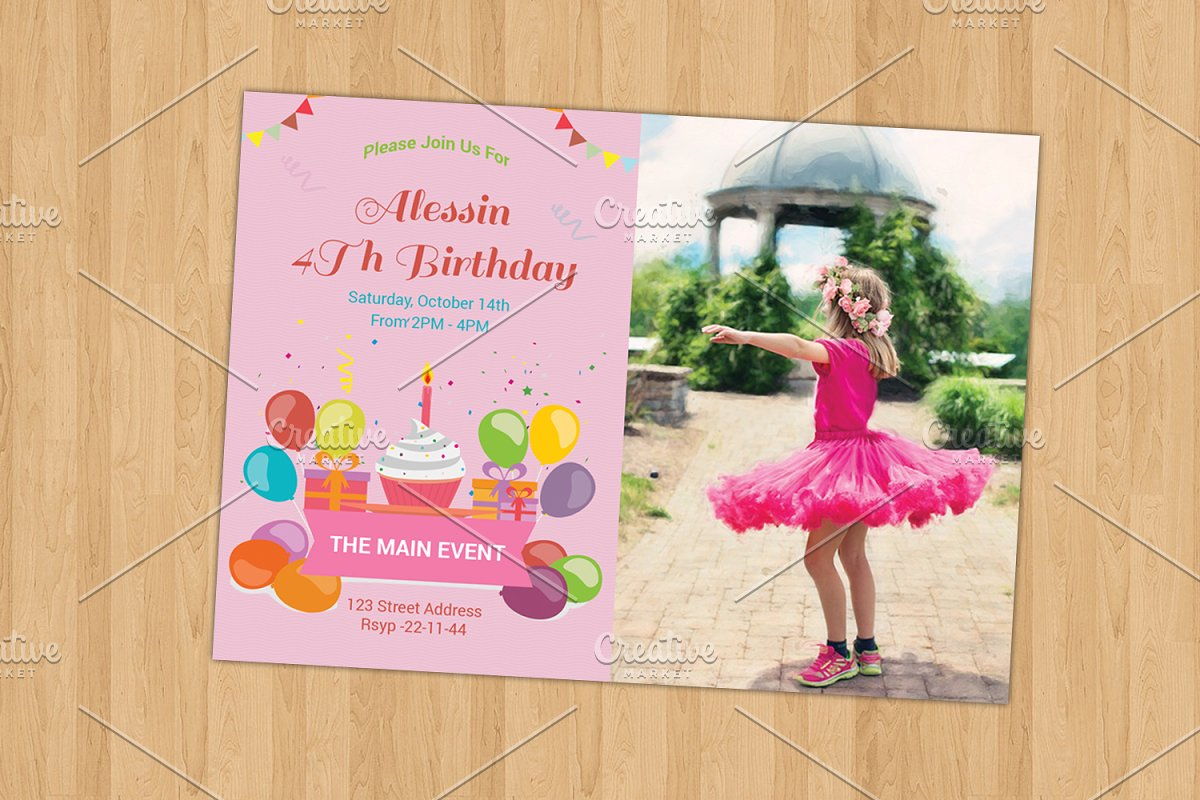 Birthday Invitation Card V262