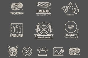 Handicraft logo set