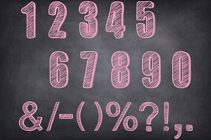 Chalkboard Numbers Clipart