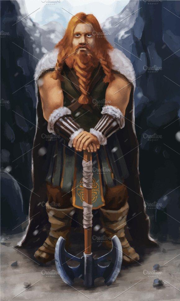 Scandinavian Viking With Ax