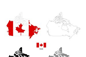 Canada country silhouettes