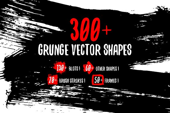 Grunge Gouache Vector Shapes