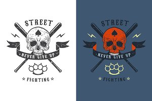 Street fighting emblem