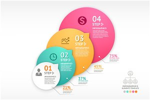 Infographics Business Step Template.