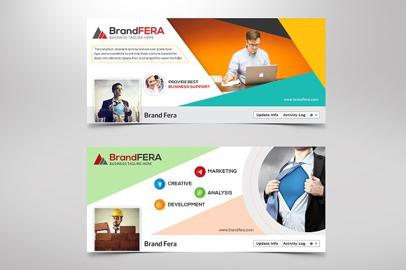 Corporate facebook timeline cover website templates creative market flashek Choice Image