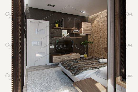 modern bedroom interior 3d render illustrations creative market