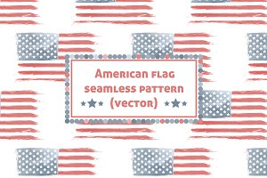 American Flag pattern (vector)