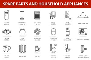 Spare parts and household appliances
