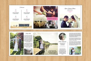 Square Trifold Wedding Brochure-V481
