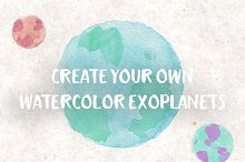 watercolor exoplanets brush