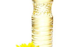 Bottle of sunflower oil