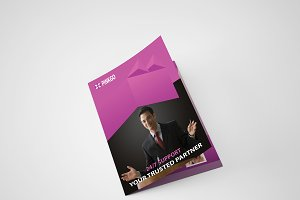 Pinkgo Bi Fold Brochure Template