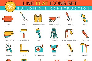 Construction & building tools icons.