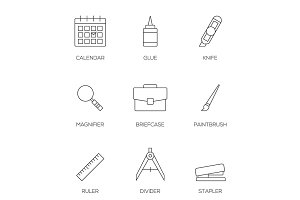 Office tools outline icons vol 3
