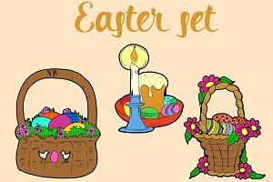 Easter set. Vector
