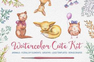 Watercolor Cute Kit