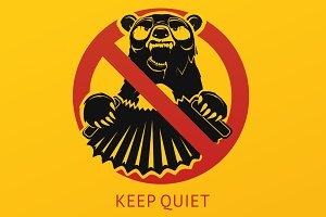 """Vector poster """"Keep quiet"""""""