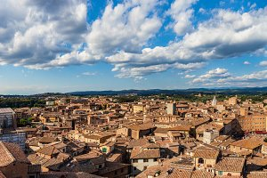 Siena panorama. Rooftop city view.