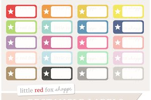 Rectangle Label Clipart