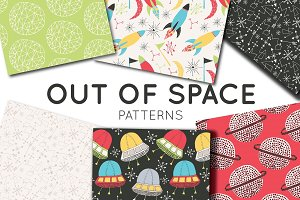 Space & Planets Seamless Patterns