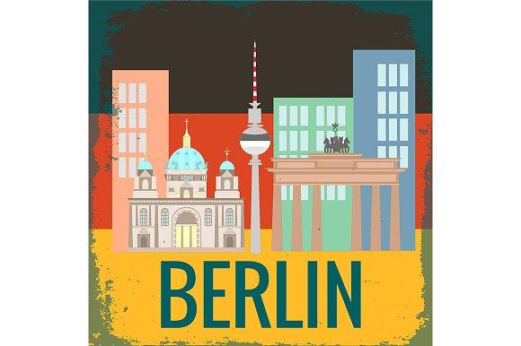 Attractions Berlin On German Flag