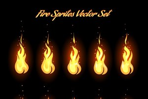Fire animation frames icons