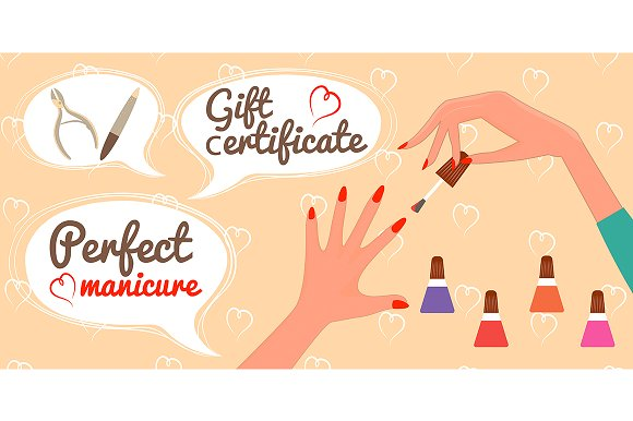 Gift Certificate Perfect Manicure Ilrations