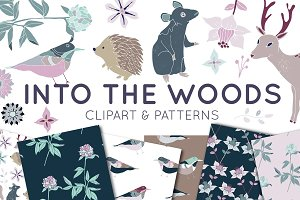 Into The Woods Clipart & Patterns