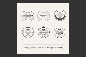 Set vector vintage posters