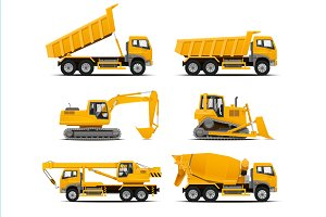 Construction Machinery Illustrations