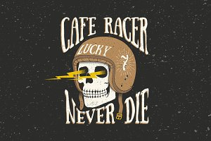 Cafe Racer Themed Illustration