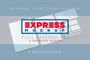 Express Branding/Stationery Mockups