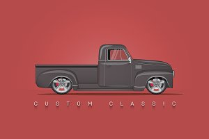 Custom Classic Pickup Vector