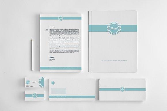 mosai corporate identity stationery templates on creative market