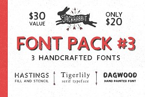 Jackrabbit Font Bundle 3
