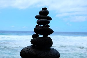Rocks at Hanakapi'a Beach