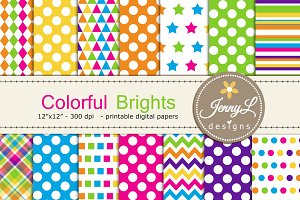 Colorful Brights Digital Paper