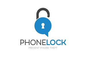 Phone Lock Logo Design