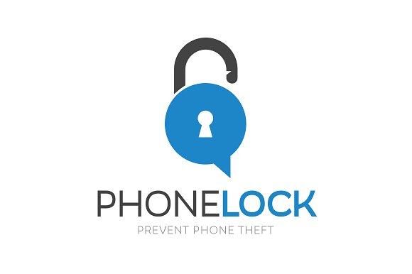 Phone Lock Logo Design