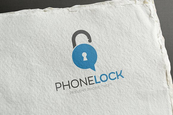Phone Lock Logo Design in Logo Templates - product preview 1