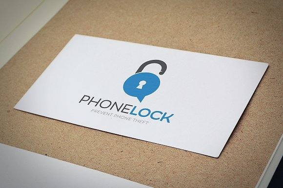 Phone Lock Logo Design in Logo Templates - product preview 2