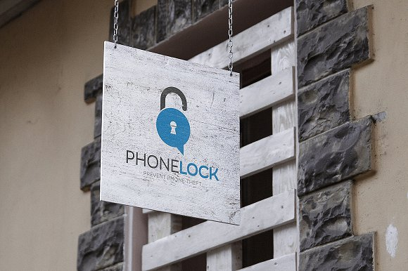 Phone Lock Logo Design in Logo Templates - product preview 3