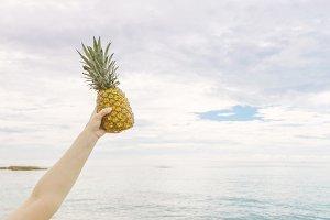 Pineapple Held Up To Sky 4