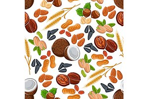 Nuts and seeds, legumes pattern