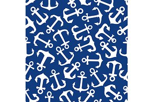 Seamless marine anchors pattern