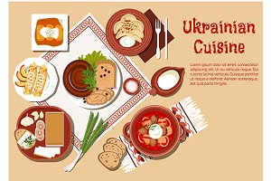 National ukrainian cuisine dishes